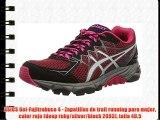ASICS Gel-Fujitrabuco 4 - Zapatillas de trail running para mujer color rojo (deep ruby/silver/black