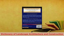 Download  Dictionary of Landscape Architecture and Construction Read Online