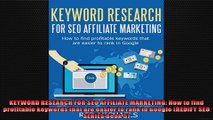 KEYWORD RESEARCH FOR SEO AFFILIATE MARKETING How to find profitable keywords that are