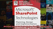 Microsoft SharePoint Technologies Planning Design and Implementation HP Technologies