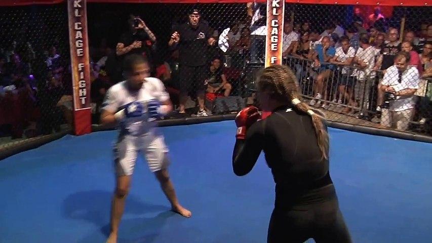 Alessia D'Addario vs Jorghelina Cecchini Cage Fight 7 MMA italian title fight Kombat League