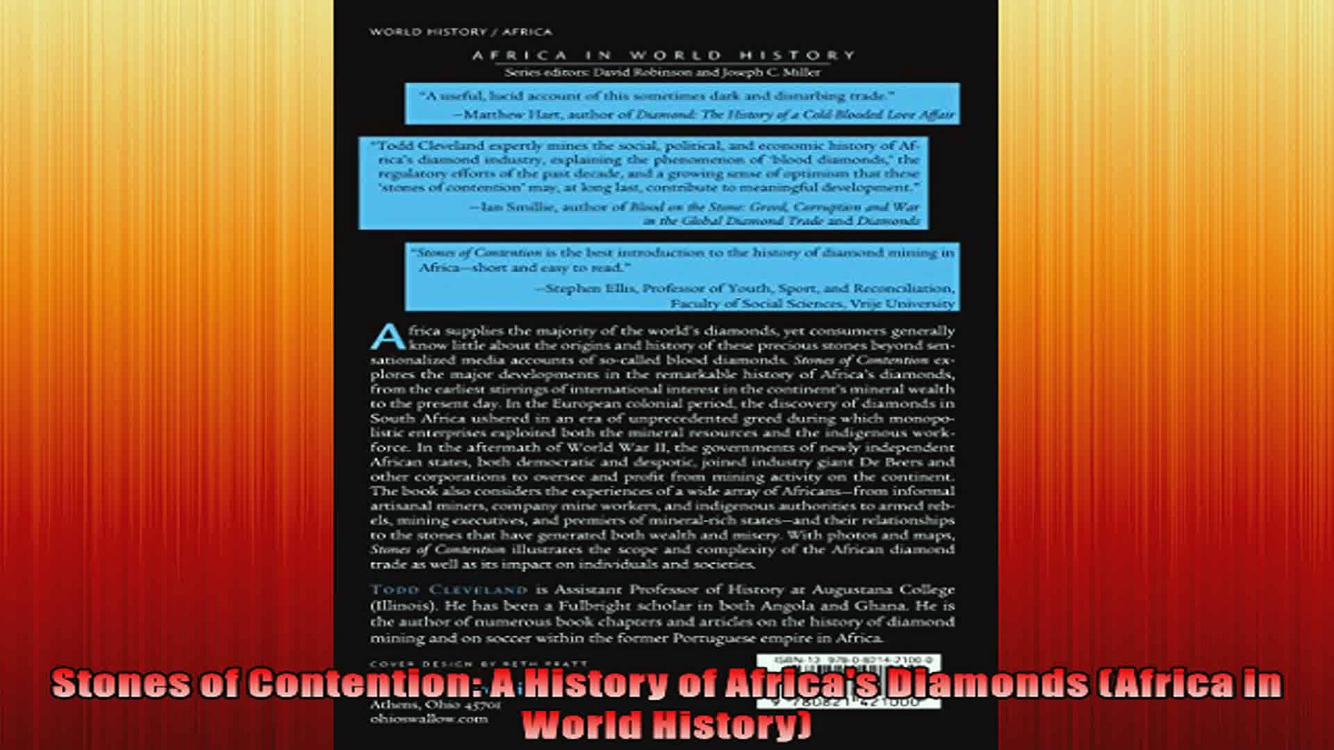 Stones of Contention A History of Africas Diamonds Africa in World History