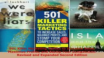 Download  501 Killer Marketing Tactics to Increase Sales Maximize Profits and Stomp Your  Read Online