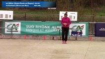 Mène 4, Finale Millet contre Kerfant, cinquième étape du Super 16 féminin, Sport Boules, Bourg-Saint-Andéol 2016