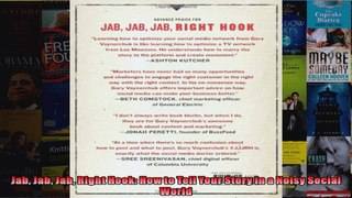 Jab Jab Jab Right Hook How to Tell Your Story in a Noisy Soc