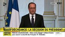 François Hollande annonce qu'il renonce à la déchéance de nationalité