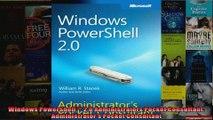 Windows PowerShell 20 Administrators Pocket Consultant Administrators Pocket