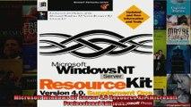 Microsoft Windows NT Server 40 Resource Kit Microsoft Professional Editions