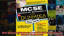 MCSE Windows NT Workstation 4 For Dummies Flash Cards For Dummies Computers