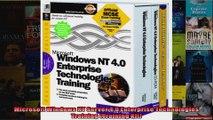 Microsoft Windows NT Server 40 Enterprise Technologies Training Training Kit
