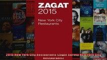 2015 New York City Restaurants Zagat Survey New York City Restaurants