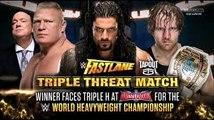 Roman Reigns VS Dean Ambrose VS Brock Lesnar WWE Fastlane 2016