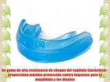 Shock Doctor Youth Gel - Protección de boca de fútbol infantil tamaño Joven color azul / negro