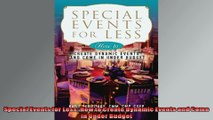 Special Events for Less How to Create Dynamic Events and Come in Under Budget