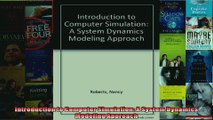 Introduction to Computer Simulation A System Dynamics Modeling Approach