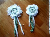 September shabby chic lace flowers from watching LavishLaces