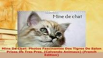 PDF  Mine De Chat Photos Fascinantes Des Tigres De Salon Prises De Tres Pres Calvendo Download Online
