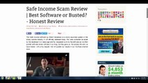 SAFE INCOME SCAM - SAFE INCOME INC - SAFE INCOME SCAM REVIEW
