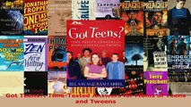 PDF  Got Teens TimeTested Answers for Moms of Teens and Tweens Read Full Ebook