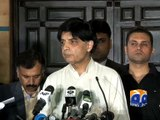 Nisar says no agreement made with Islamabad protester -30 March 2016