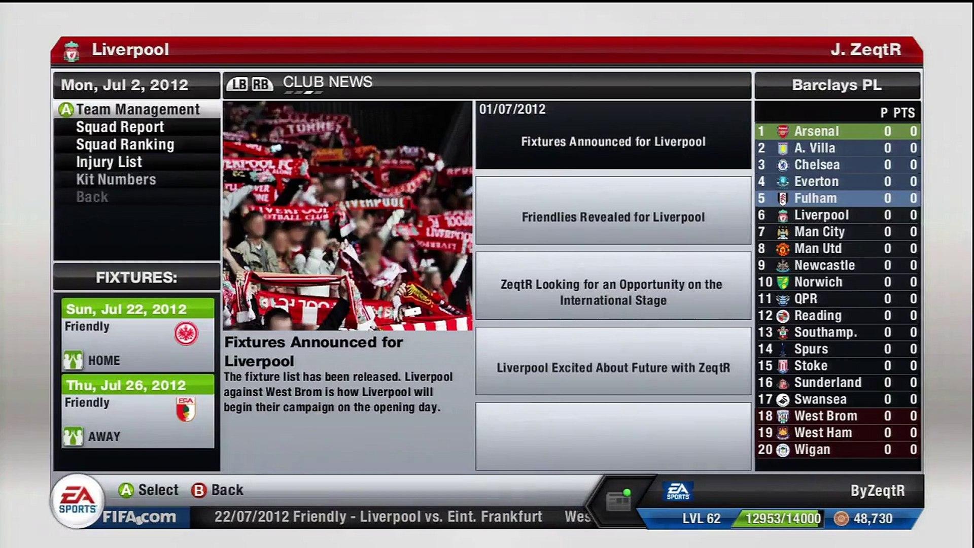 FIFA 13 - Liverpool Career Mode - S1 - Ep1