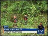 60 rescatistas buscan a obrero desaparecido