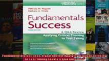 Fundamentals Success A QA Review Applying Critical Thinking to Test Taking Daviss Qa