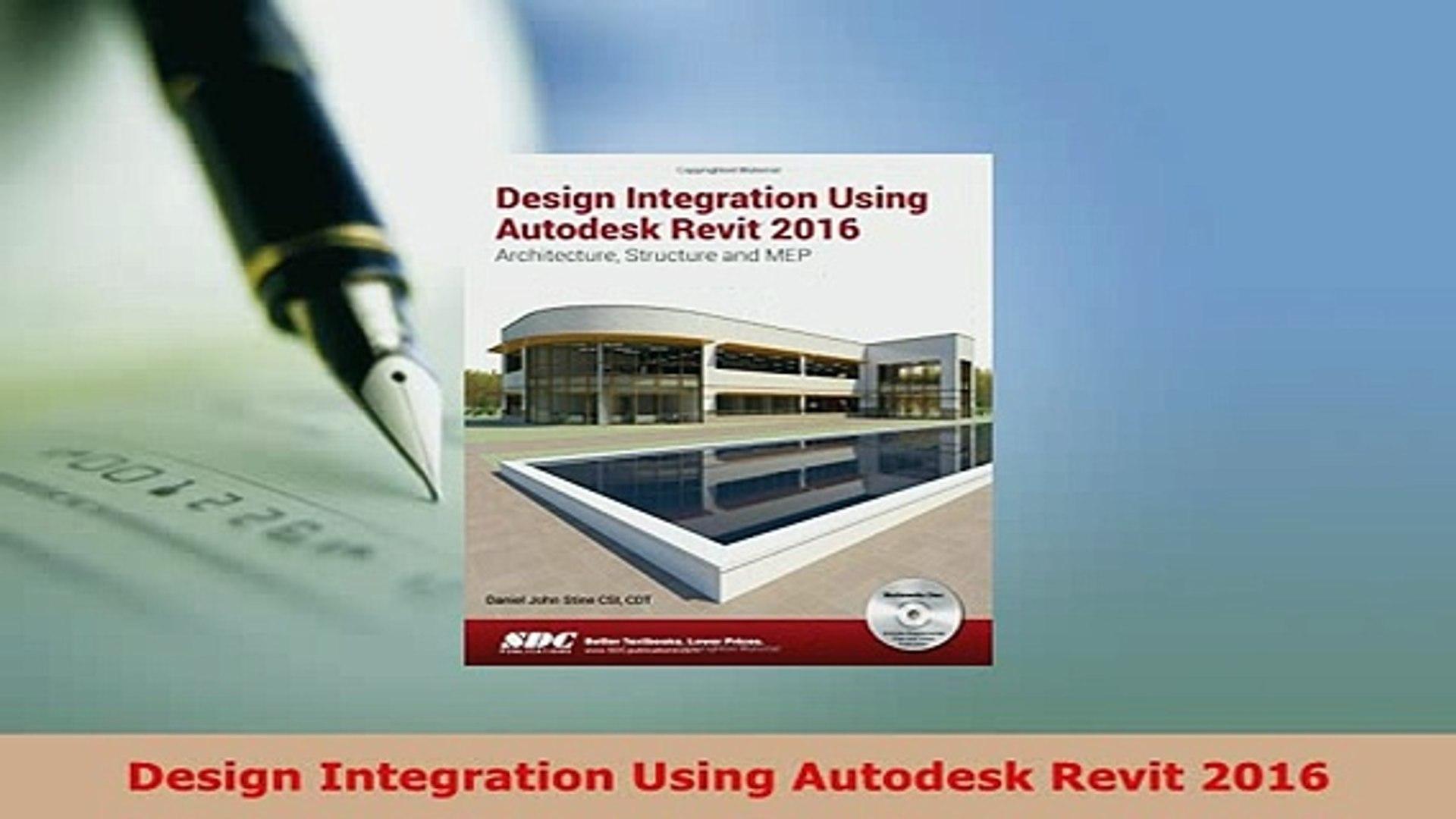 design integration using autodesk revit 2016 pdf download