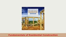 Download  Fundamentals of Residential Construction Free Books