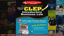 CLEP Introductory Business Law with CD CLEP Test Preparation