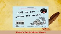 PDF  Simons Cat in Kitten Chaos Read Full Ebook