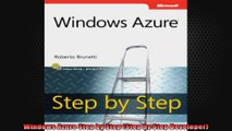 Windows Azure Step by Step Step by Step Developer