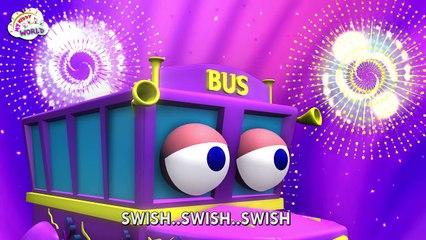 Funny Wheels On The Bus   HD Nursery Rhymes   3d Rhymes   Kids Nursery Rhymes