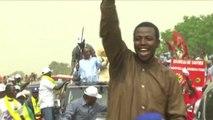 Tchad, Le candidat I. Deby Itno en campagne à Moundou