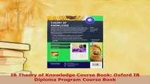 PDF  IB Theory of Knowledge Course Book Oxford IB Diploma Program Course Book PDF Book Free