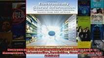 Electronically Stored Information The Complete Guide to Management  Understanding