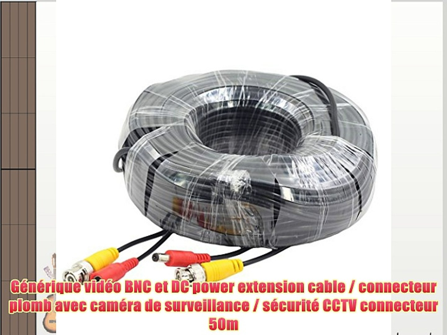 50m BNC DC Video Cable BNC//DC Male to BNC Male//DC Female For CCTV Camera 150ft