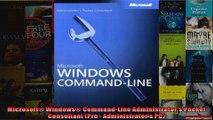 Microsoft Windows CommandLine Administrators Pocket Consultant Pro  Administrators