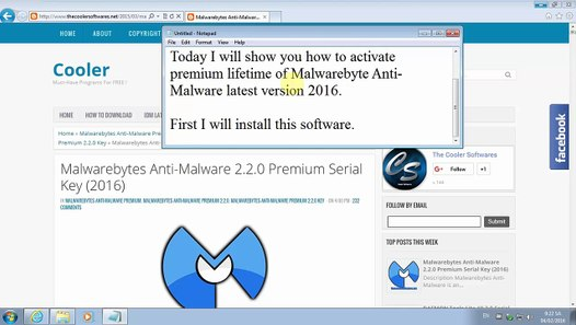Malwarebytes Anti-Malware 2 2 0 Premium Key FREE 2016 (WORKING)