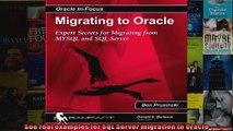 Migrating to Oracle Expert Secrets for Migrating from MySQL and SQL Server Oracle In