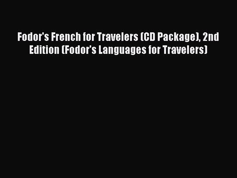 Phrase Book Fodors German for Travelers