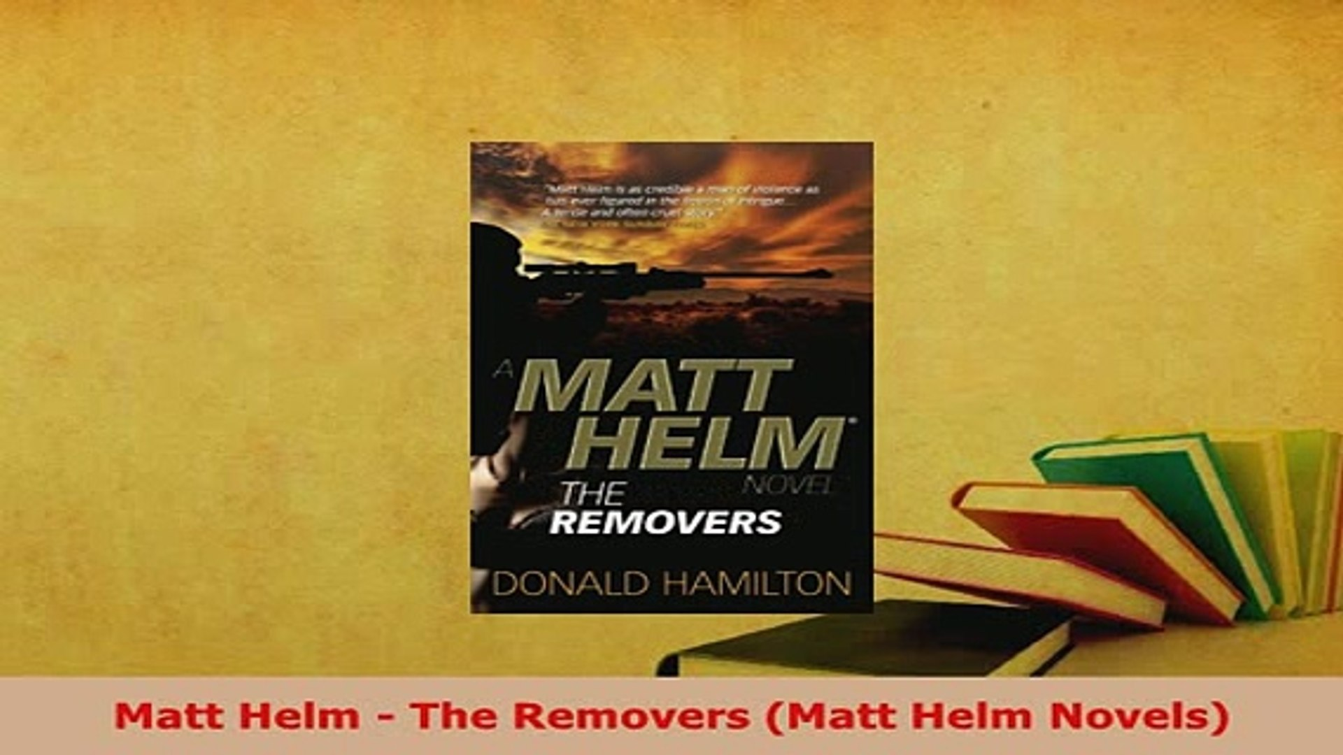 PDF  Matt Helm  The Removers Matt Helm Novels Read Online