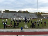 logan high marching band in competition at woodrow wilson
