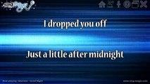 Good Night in the style of Gloriana karaoke version