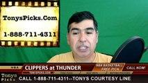 Oklahoma City Thunder vs. LA Clippers Free Pick Prediction NBA Pro Basketball Odds Preview 3-31-2016