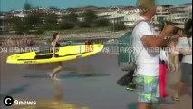 José Luis Colmenter: Hugh Jackman rescata del fuerte oleaje en Bondi Beach a su hijo y otros bañistas