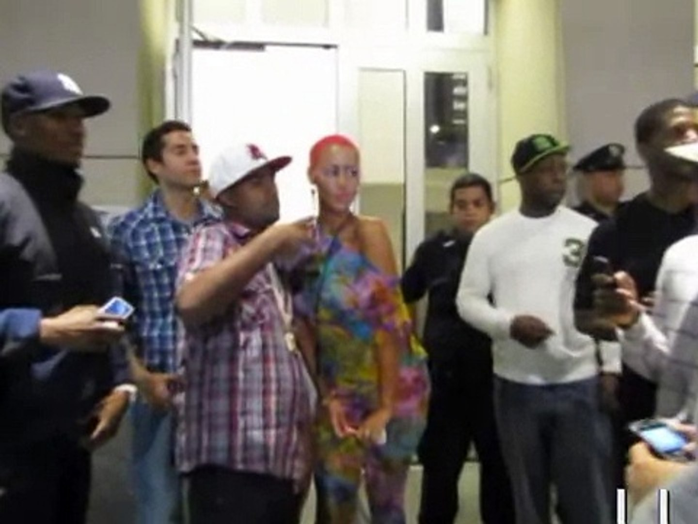 Nicki Minaj  , Diddy,Amber rose, & Jcole  Outside Jayz concert