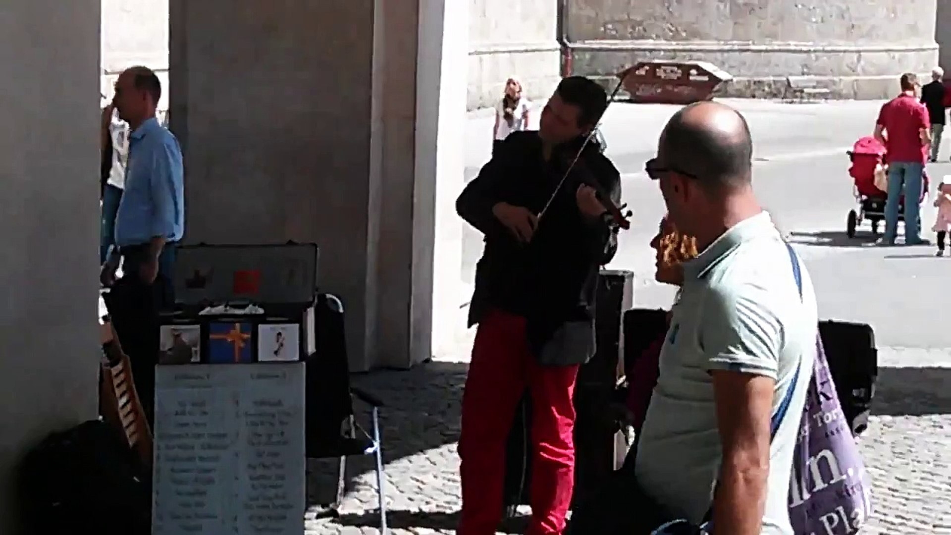 Street Musician in Salzburg with Violin (1)
