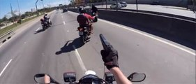 Motorcycle Only Police chases .cop with helmet cam Brazil Only. Instant Karma