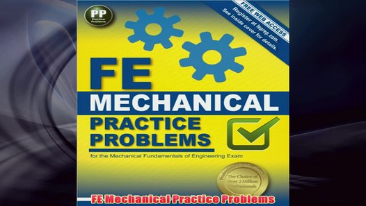 Free FE Mechanical Practice Problems Read Download - video